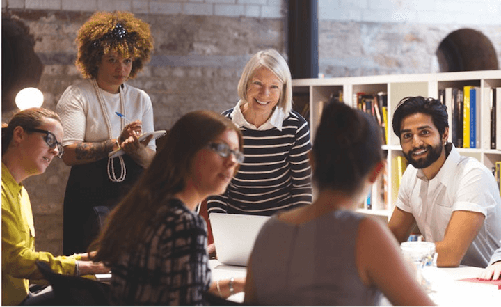 inclusion and diversity in marketing—diverse individuals collaborating