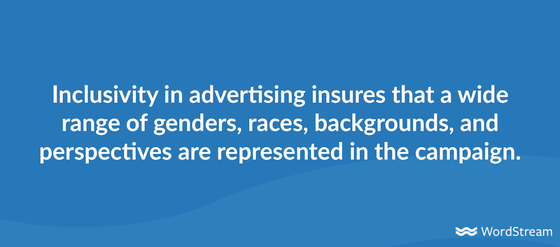 inclusivity in advertising definition