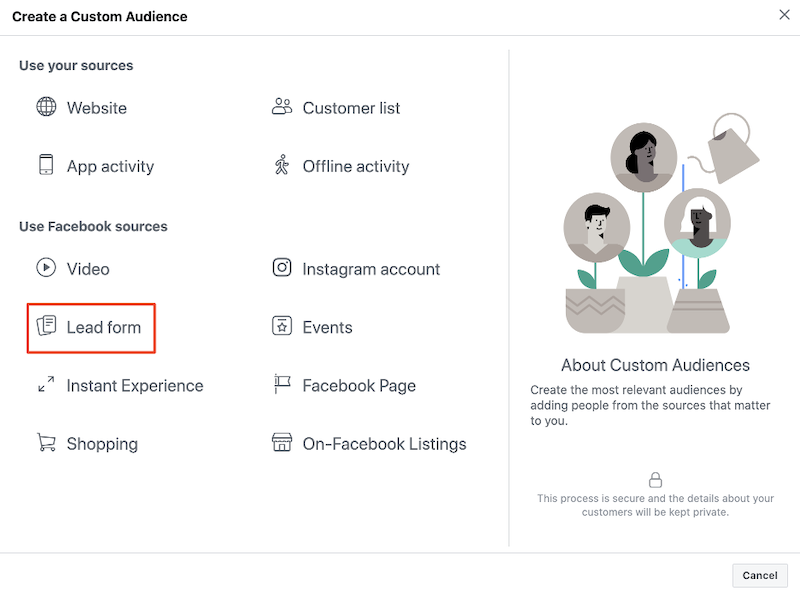 increase bottom of funnel conversions-facebook retargeting audience