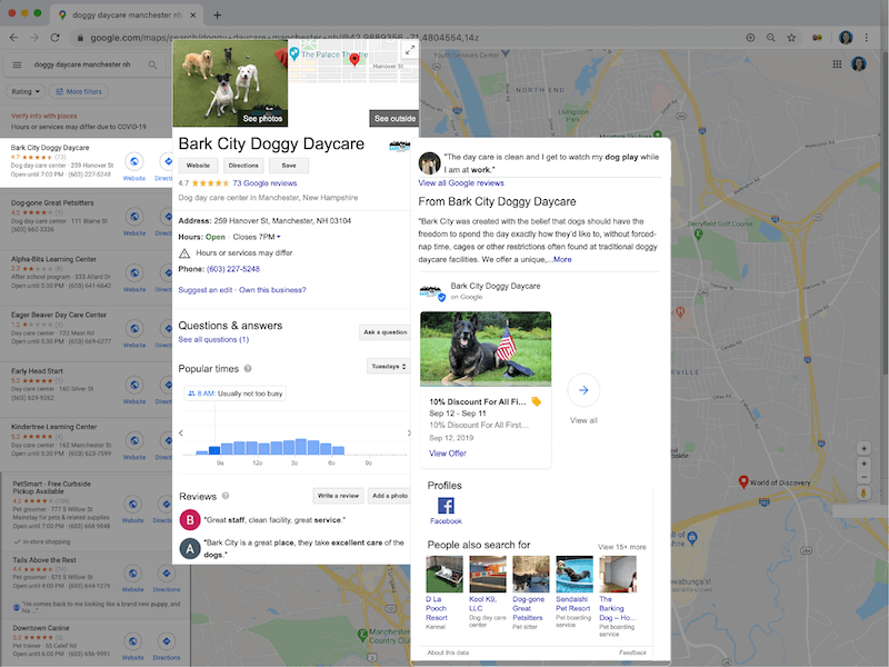increase online presence with google my business