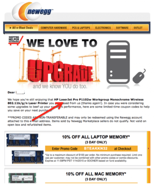 how to increase sales online follow up email example