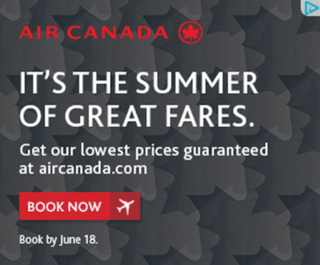 how to increase sales online display ad for air canada