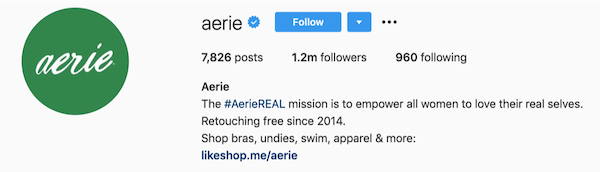 Instagram的BIOS Aerie