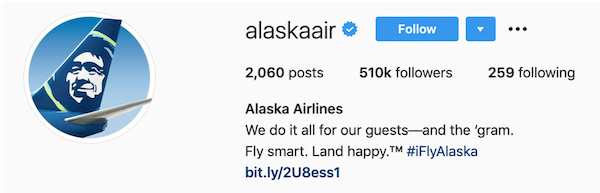 instagram bios alaska airlines