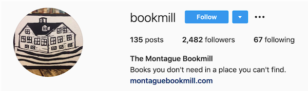 instagram bios bookmill