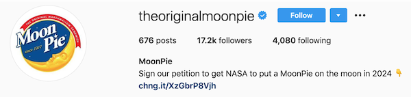 instagram bios moonpie