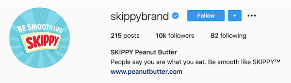 instagram bios skippy