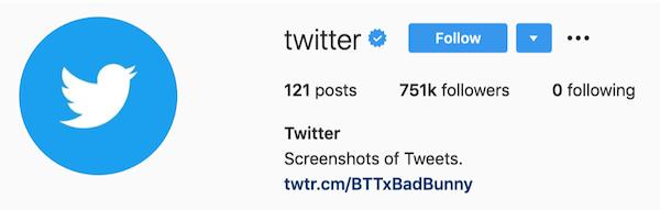 Instagram的BIOS Twitter的