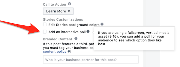 instagram story ad polls add an interactive poll