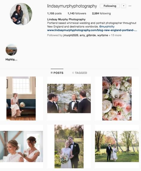 wedding photographer instagram