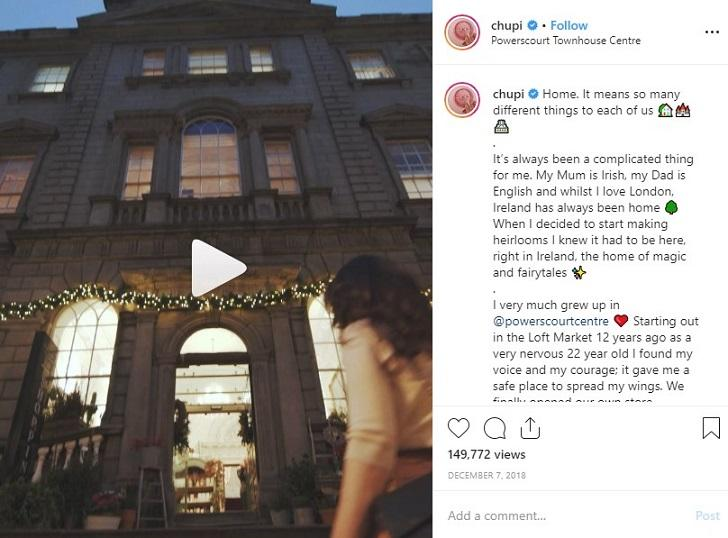 Chupi Instagram post with emotional appeal
