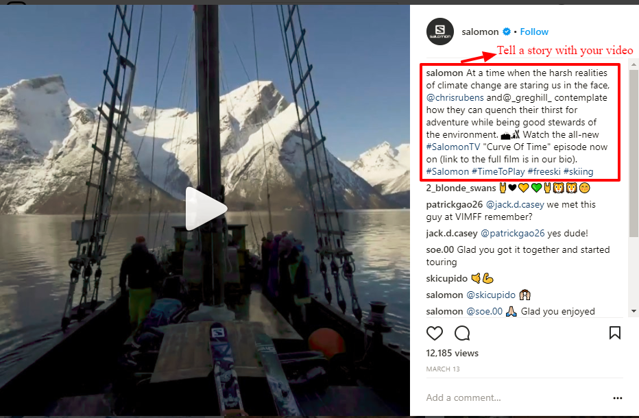 Instagram Videos Salomon