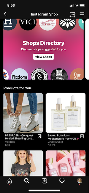 instagram checkout for holiday ecommerce advertising