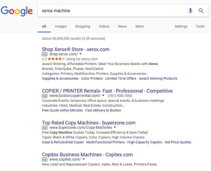 serp insurance marketing tactics