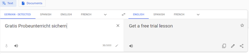 international ppc google translate