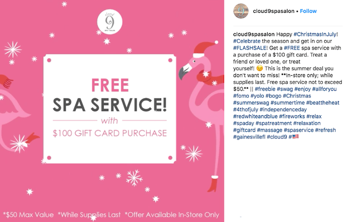 july marketing ideas christmas in july flash sale