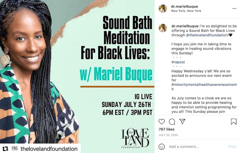 july marketing ideas minority mental health month instagram post