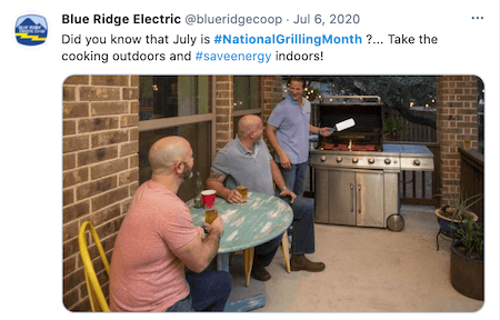 july marketing ideas grilling month twitter post
