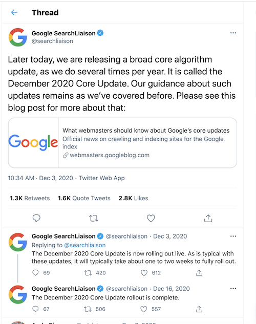 killer seo strategy 2021 core algorithm update