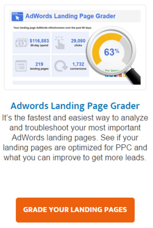 grader landing page generation