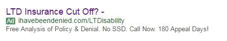 lawyer marketing Google ad