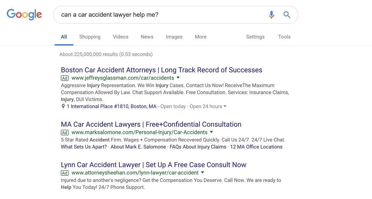 lawyer marketing strategies SERP
