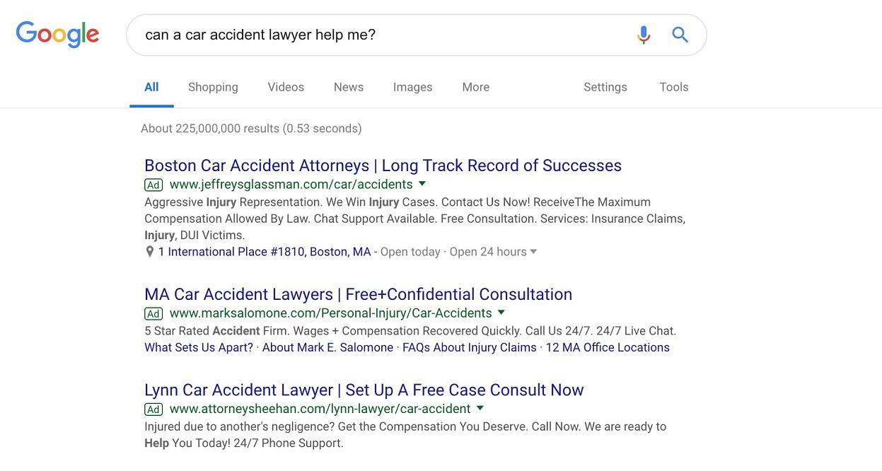 lawyer marketing strategies SERP