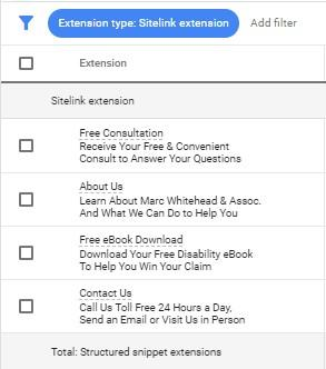 lawyer marketing strategies sitelink extensions