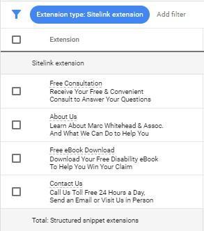 lawyer marketing strategies sitelink extensions