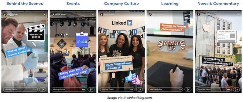 LinkedIn-Stories-examples