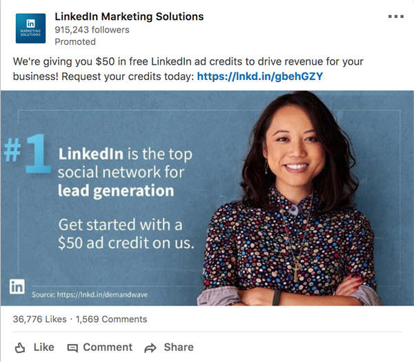 brand awareness campaign on linkedin