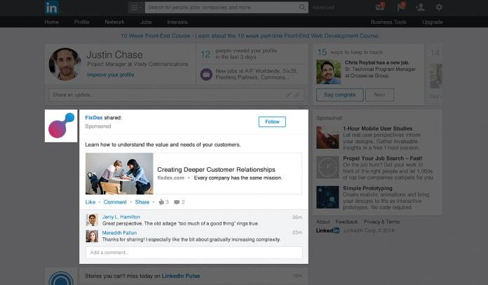 linkedin-interest-targeting-social-engagement-example