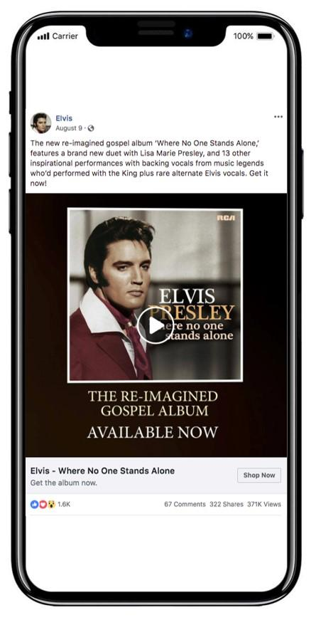 Finding Elvis ad on phone