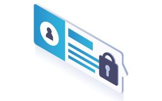 image of locked data