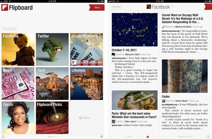 Manage social media accounts Flipboard