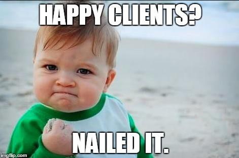 Manage social media accounts happy customer