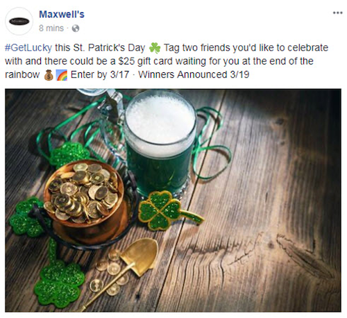 March marketing ideas st patricks day contest