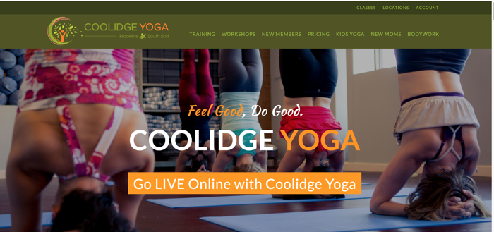 marketing copywriting during COVID 19 coolidge yoga