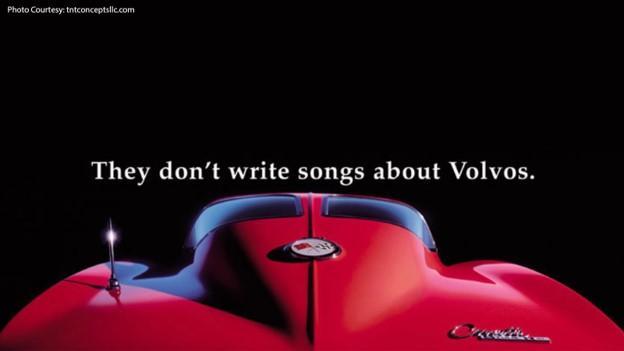marketing copy Corvette example