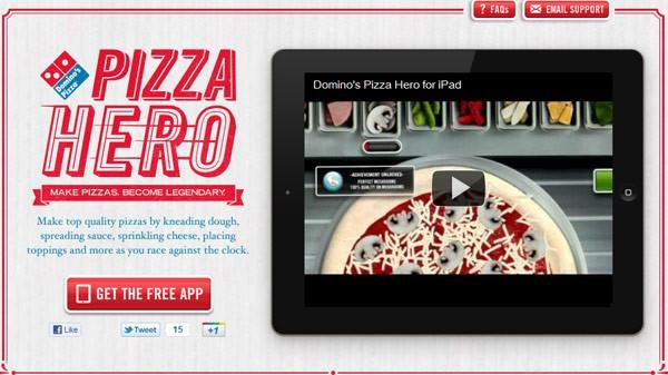 Domino's pizza hero