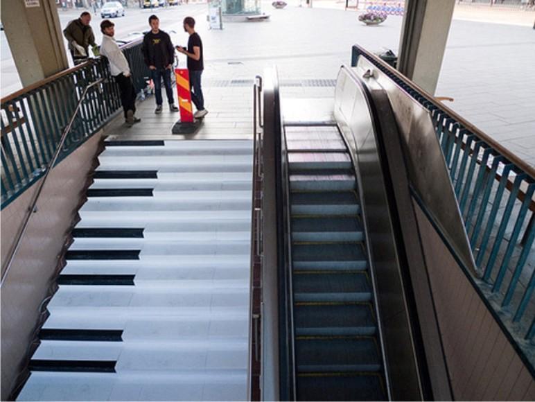 piano stairs image