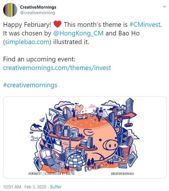 tweet about marketing network event