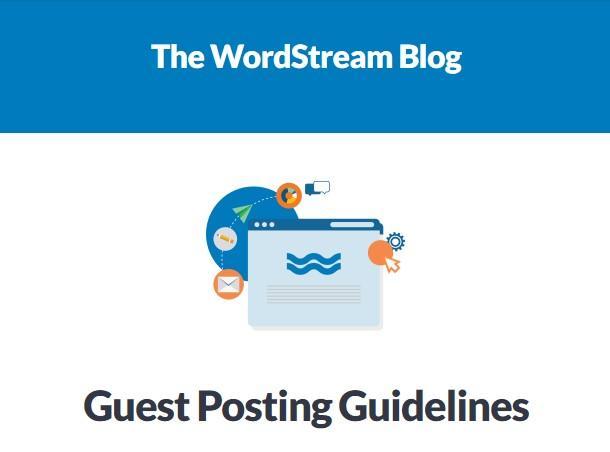 WordStream guest posting
