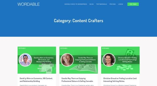 Wordable's Content Crafters series