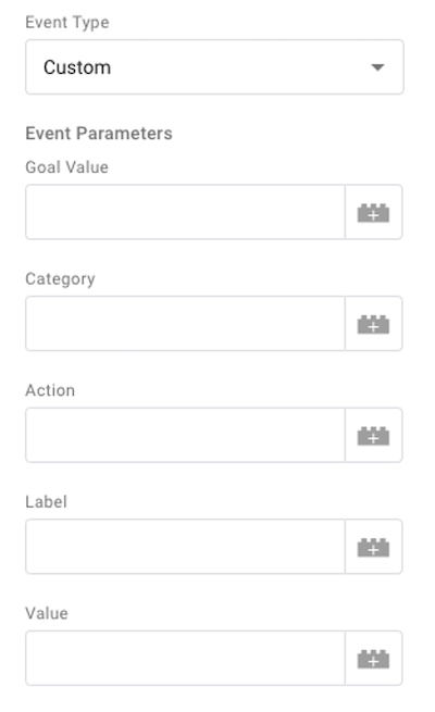 microsoft ads event tracking—change event type to custom