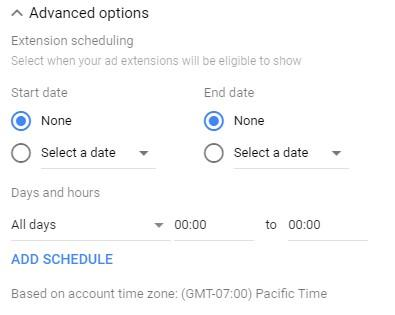 mobile conversions message extension scheduling