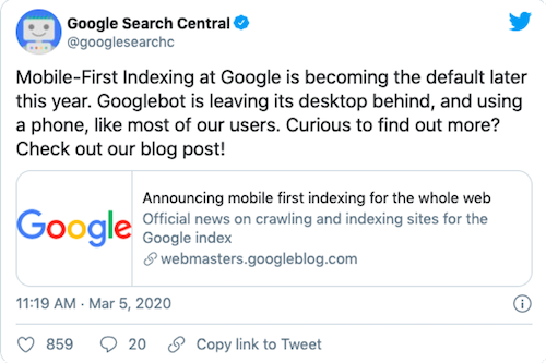 mobile-first-indexing-tweet