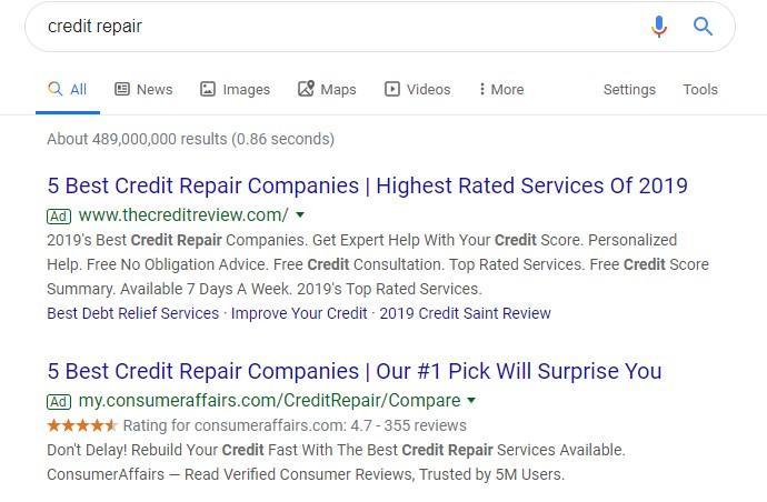 Google ads restricted debt update