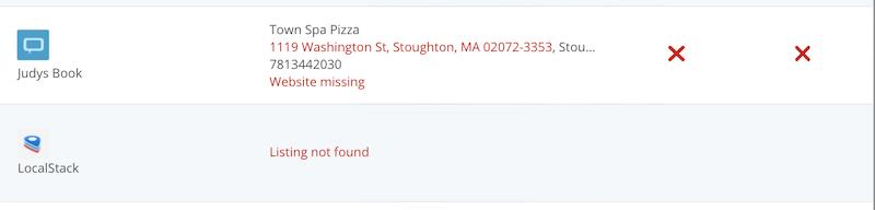 localiq online presence checker missing listings