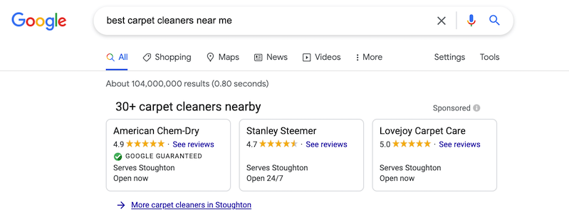 google local services ads for online presence